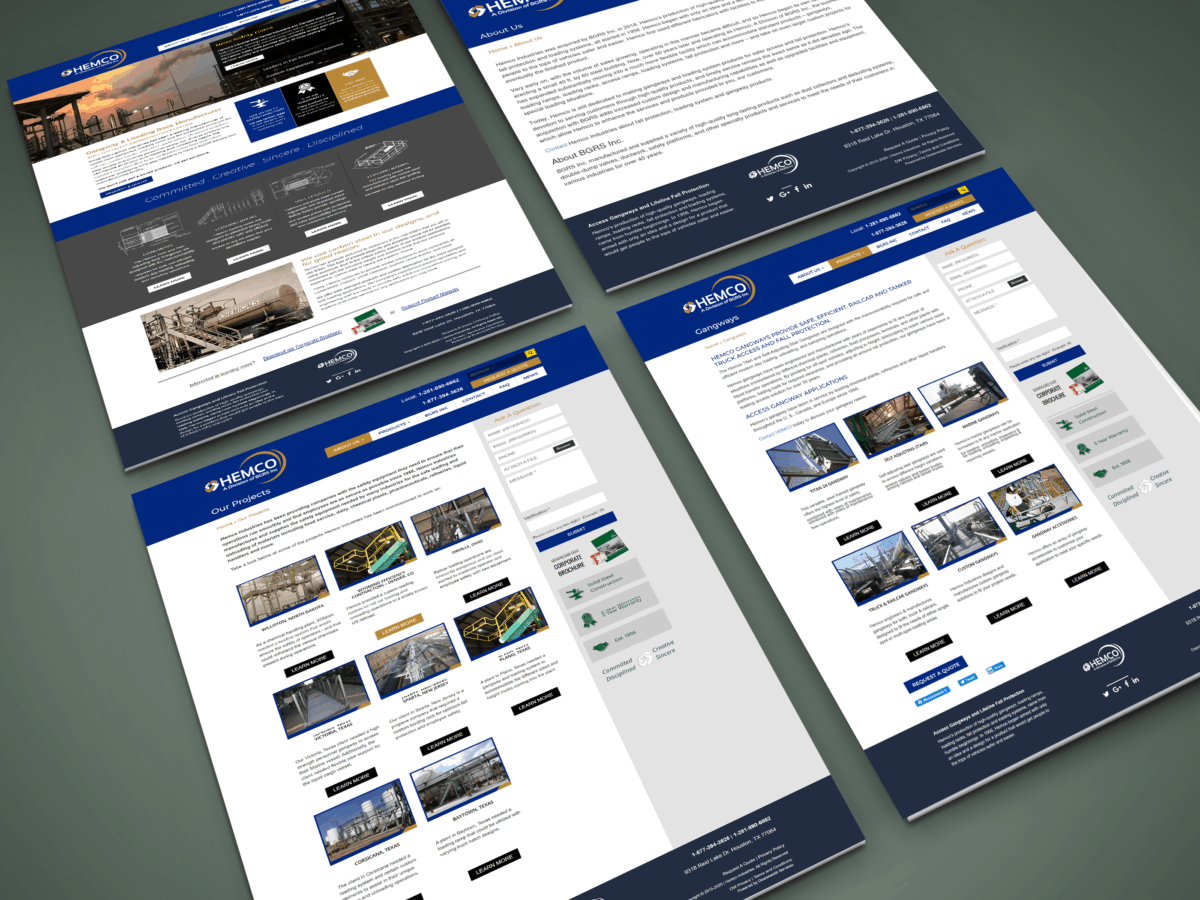 HEMCO Website Design Mockup